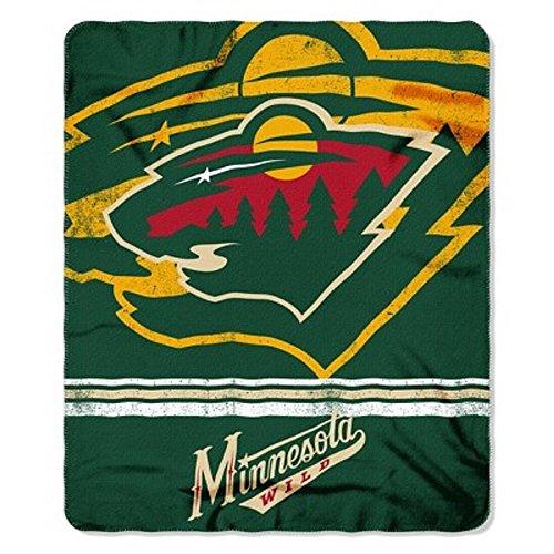 The Northwest Company NHL Minnesota Wild Printed Fleece Throw, One Size, Multicolor
