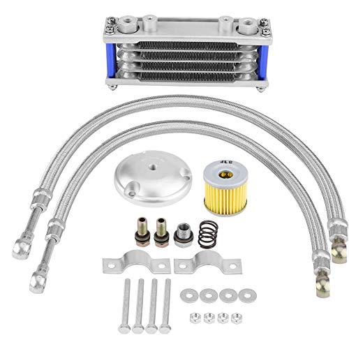 KIMISS 65ml Enfriador de Aceite de la Transmisión del Motor de la Motocicleta Kit de Sistema de Radiador de Refrigeración...