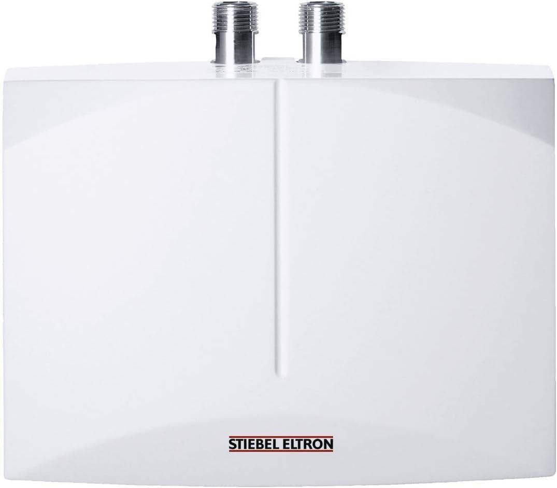 Stiebel Eltron 185473 DHM 6 hydrauschlicher, druckloser, druckfester Mini-Durchlauferhitzer, 5.7 W, 230 V, Weiß, 5,7 kW