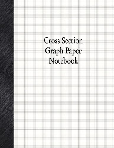 """Cross Section Graph Paper Notebook: 1/12"""" Cross Section Rule, 80 - Section Graph Cross"""