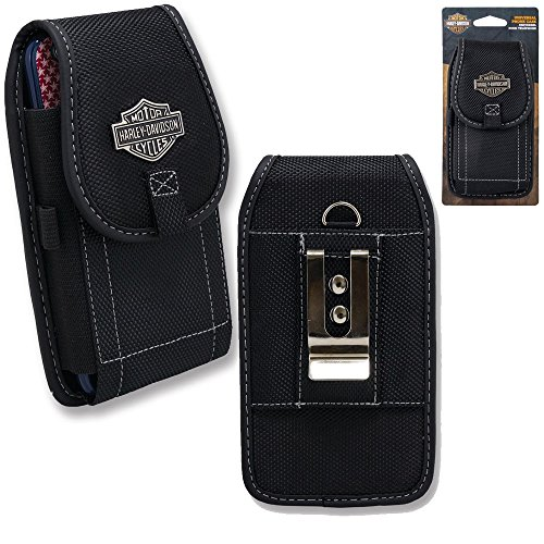Harley Davidson Telephone - Harley Davidson Belt Loop and Metal Clip Riding Case fits iPhone 7 with any cover on it.