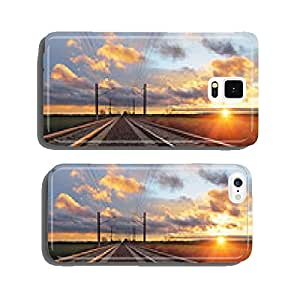 Railroad at sunset cell phone cover case iPhone6 Plus