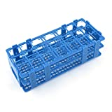 Uxcell a14031200ux0246 Teal Blue Plastic 21 Holes Box Rack Holder for 50ML Centrifuge Tubes