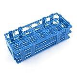 Uxcell a14031200ux0246 Teal Blue Plastic 21 Holes Box Rack Holder for 50ML Centrifuge Tubes