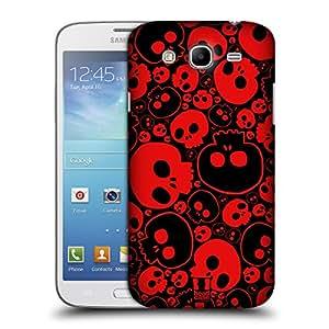 Head Case Designs Red Jazzy Skulls Hard Back Case Cover for Samsung Galaxy Mega 5.8 I9150 I9152