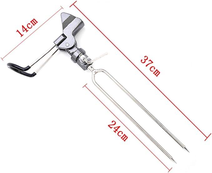 Stainless Steel Ground Insert Fishing Rod Pole Bracket Support Holder Rack