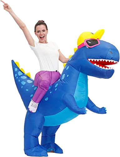 Decalare Adult/Kids Size Inflatable T-REX Dinosaur Costume Fancy Costumes Halloween Party Cosplay Fantasy Blow up Costume