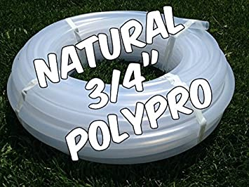 """5//8/"""" Hula Hoop Tubing with Connectors Natural Colored HDPE Coil 100 Feet"""