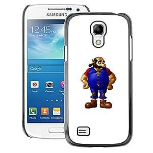 Snap-on Series Teléfono Carcasa Funda Case Caso para Samsung Galaxy S4 Mini i9190 , ( Bearded Man )