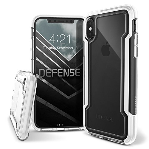 iPhone X Case, X-Doria Defense Clear Series - Military Grade Drop Protection, Clear Protective Case for iPhone X (White)