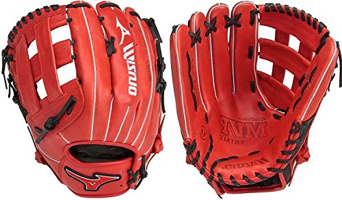 GMVP1300PSES5 Slowpitch Utility Glove 1300 Red-Black ()