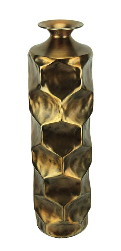 Amazon Aluminum Decorative Vases Vintage Gold Hammered Aluminum