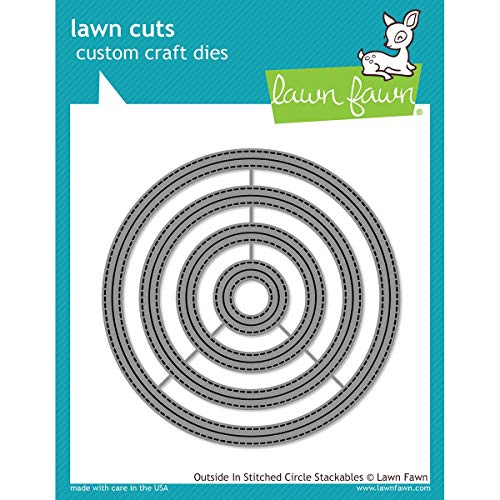 (Lawn Fawn Lawn Cuts Custom Craft Die - Outside In Stitched Circle Stackables (LF1441))
