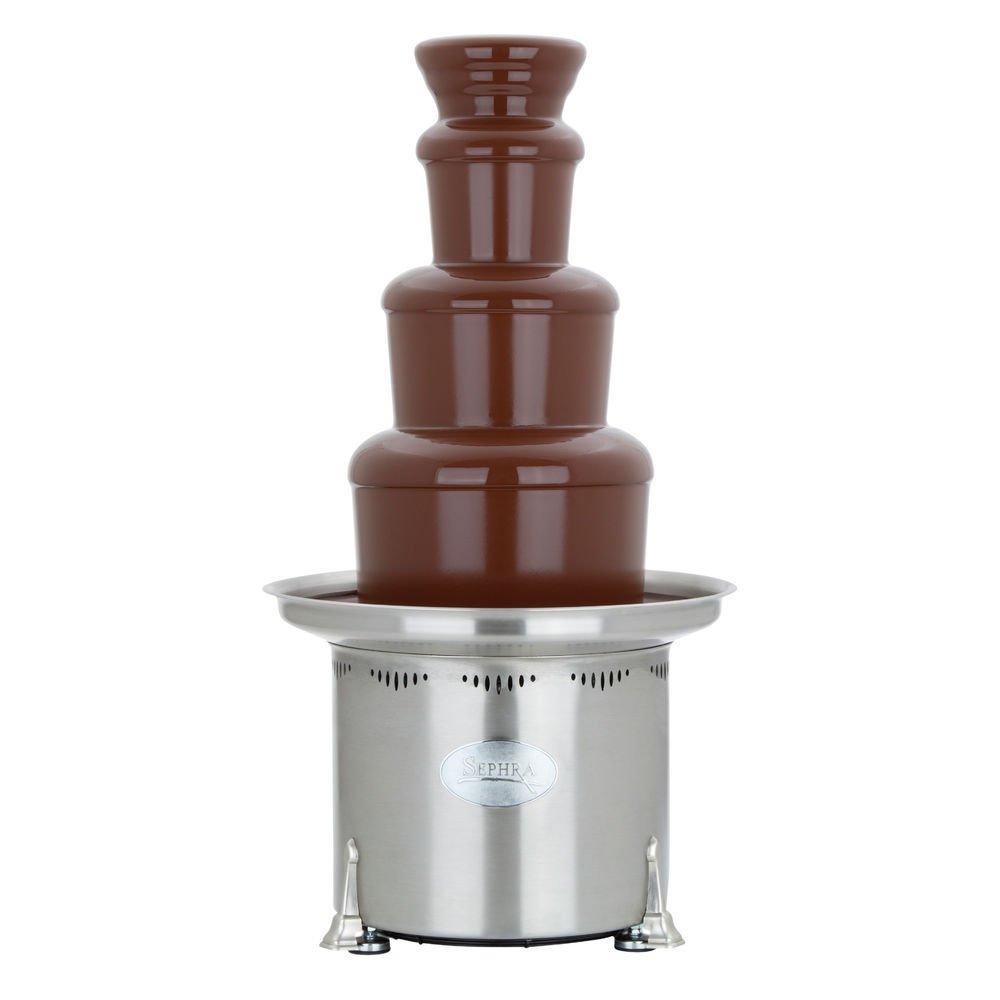 Sephra Chocolate Fondue Fountain 23''H 110/120 Volt Stainless Steel - HUB-66985