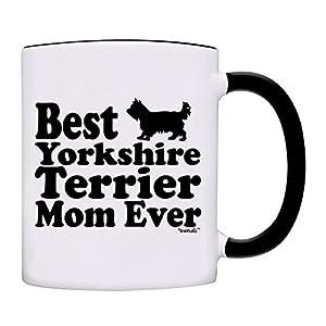 Mug Best Yorkshire Terrier Mom Ever Gift Coffee Mom Mug-0063-Black 3