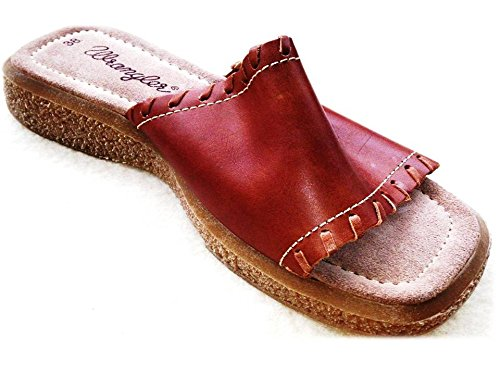 de Sandalias Marrón marrón mujer para Wrangler Piel vestir de B6f1FqwR
