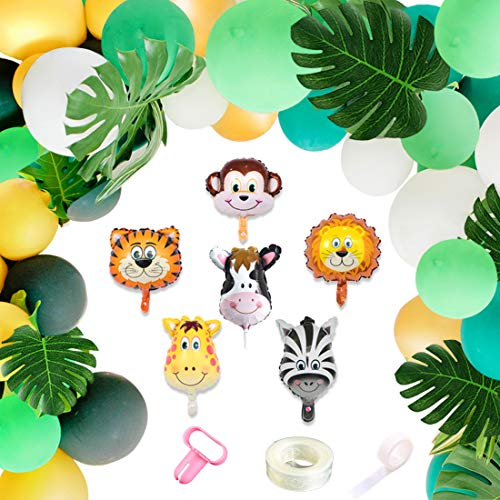 Jungle Theme Party Supplies Animal Decorations Safari Party Supplies for Birthday Baby Shower Party Decorations]()