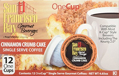 San Francisco Bay Cinnamon Crumb Cake 24 ONE CUPS for Keurig KCup Brewers