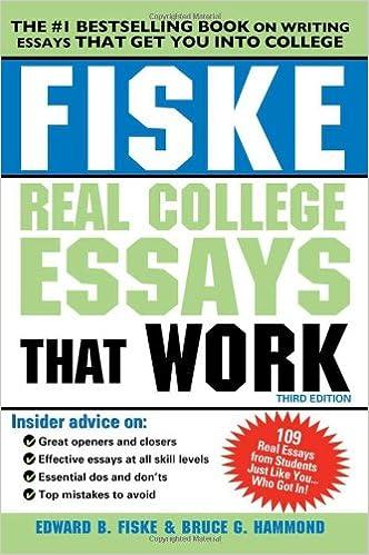 College essay books