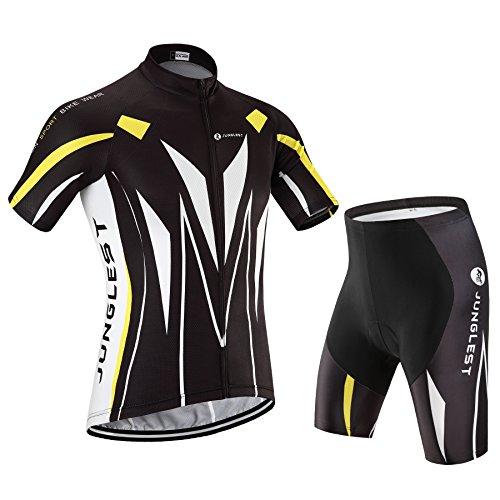 ダム悪性の深める春夏用 半袖 男性用 サイクルジャージ 上下セット ビブ選択可 自転車ウェア サイクルウェア 品質保証 N52