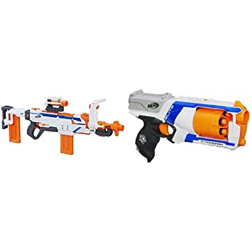 Nerf Modulus Regulator with Nerf N-Strike Elite Strongarm Blaster Bundle