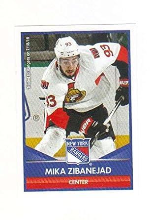 Amazon.com  2016-17 Panini Hockey Stickers  144 Mika Zibanejad NY ... 6f55ad395