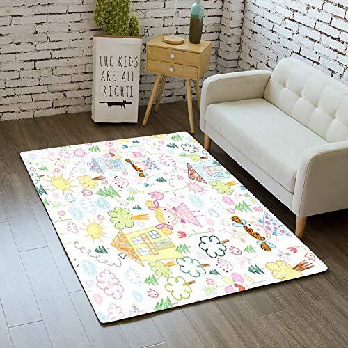 iBathRugs Door Mat Indoor Area Rugs Living Room Carpets Home Decor Rug Bedroom Floor Mats,Texture Fun Sites Girls ()
