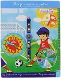 Baby Watch - Abc Soccer - Montre Garçon - Quartz Pédagogique 3-6 ans - Cadran Bleu - Bracelet Plastique Bleu