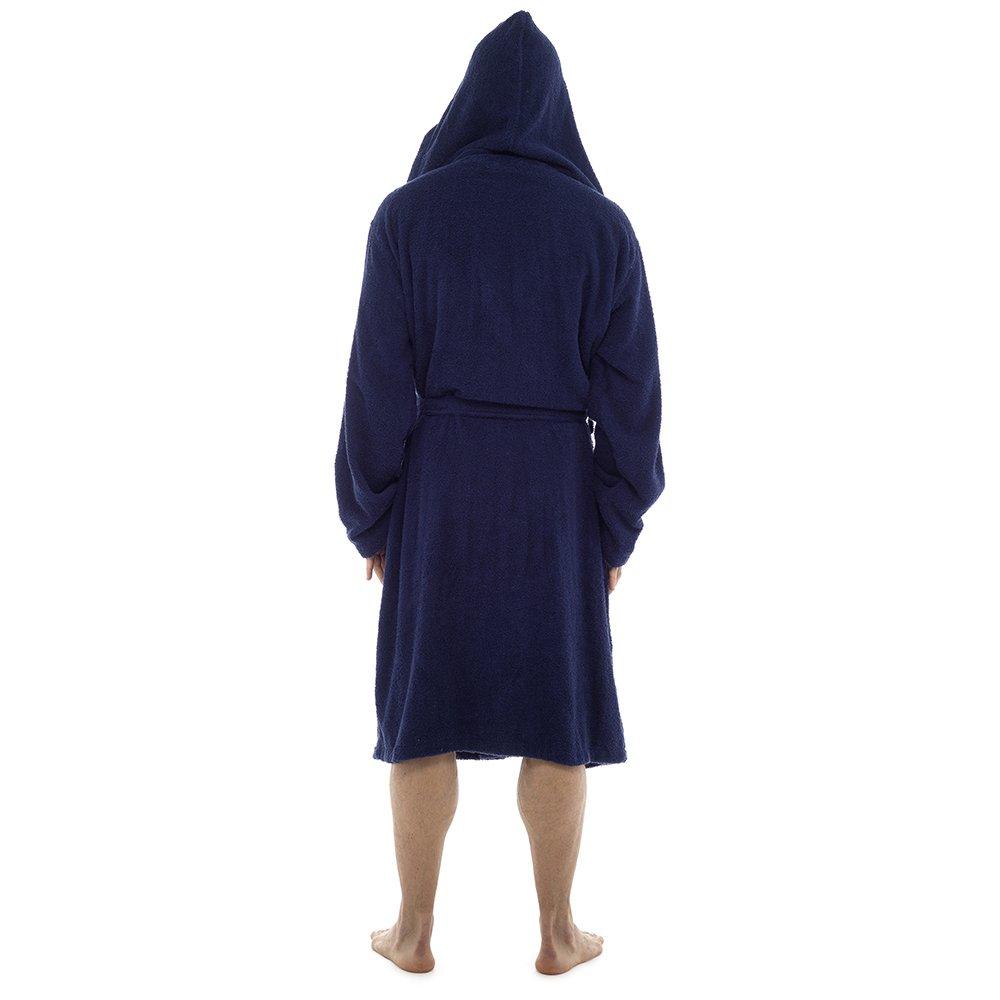 Mens Luxury 100/% Cotton Towelling Bath Robe Dressing Gown Wrap Nightwear HT566