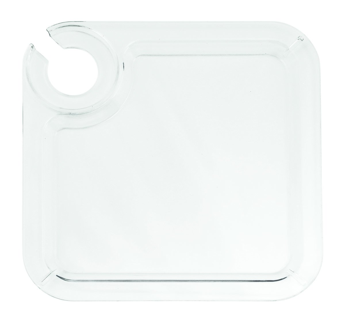 Clear Appetizer Cocktail Plate by True