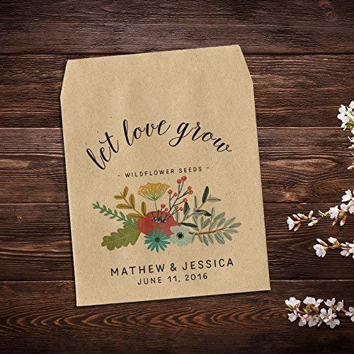 Wedding Seed Packets, Garden Wedding, Personalized Favor, Wildflower Seed Packets, Seed Packet Favor, Custom Seed Packets, Seed Packets, Floral Wedding Favor, Let Love Grow, Rustic Wedding x 25