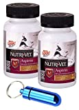 Nutri-Vet K-9 Aspirin 300mg for Medium & Large Dogs, 75ct w/Collar Address Carrier (Twin Pack, Blue) Review
