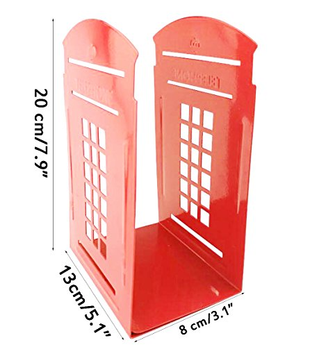 Decorative Iron Metal Bookends British Style London Telephone Booth Kiosk office