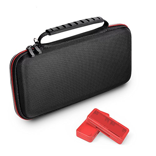 GameWill Switch Hard Shell Carrying Case for Nintendo Switch with 2 Game Card Cases-Black For Sale