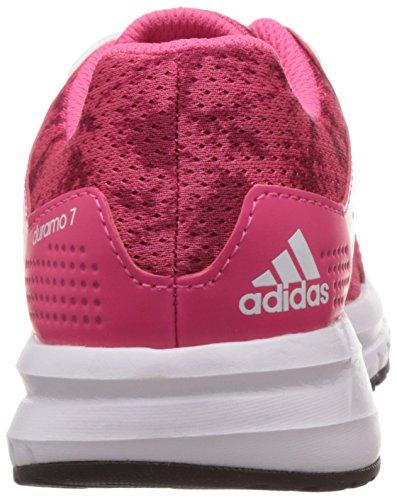 adidas Duramo 7 K - Zapatillas de running para niño Rosa / Fucsia / Blanco