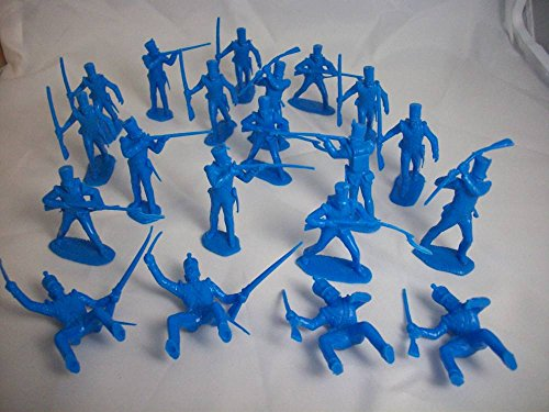 Marx Alamo Shako Hat Mexican Infantry 20 Figures in 6 Poses in Blue Offered By Classic Toy Soldiers, Inc ()