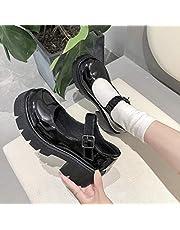 Damskor Japansk stil Lolita skor Dam Vintage mjuk syster flickor högklackade platåskor College Student Mary Jane skor
