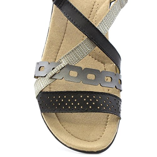 Earth Spirit Womens Black Casual Sandal Black 6ZR69