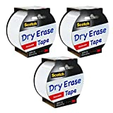 1.88x5YD Dry Erase Tape Pack of 3