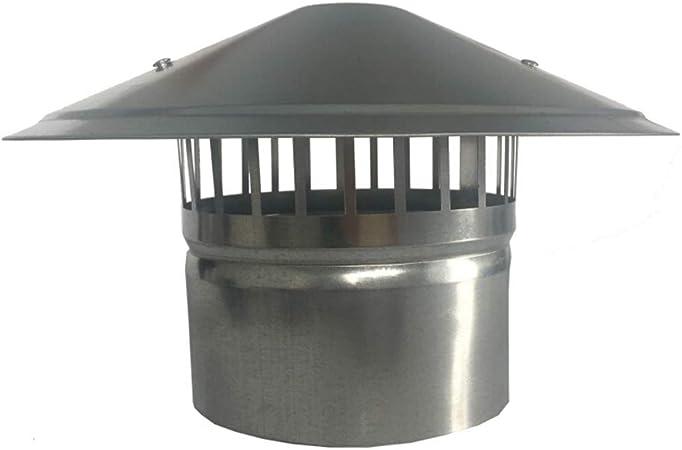 Sombrero Extractor, Campana de Techo Exterior Tubo de Escape A Prueba de Lluvia Y Viento Tubo de Ventilación de La Chimenea, Fábrica Taller Baño Granja, Etc,160MM: Amazon.es: Hogar
