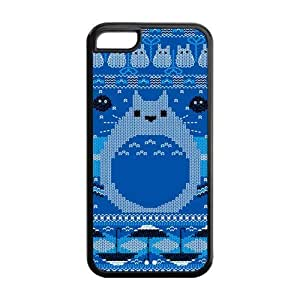 DIY Design Japanese Cartoon Totoro Printed-Protective TPU Cover Case for iPhone 5C (Durable TPU)Perfect for New Year Gift