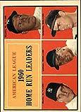 1961 Topps #44 AL Home Run Leaders Mickey Mantle Roger Maris Jim Lemon Rocky Colavito - NM