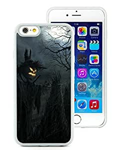 Personalized iPhone 6 Case,Dark Raven Scarecrow Halloween White iPhone 6 4.7 Inch TPU Case 1