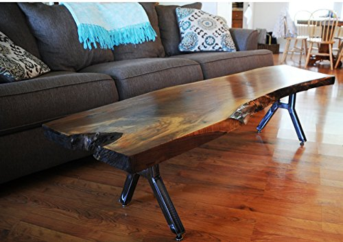 Walnut Coffee Table (Metallic Walnut Table)