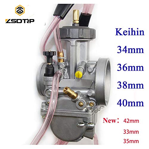 Accessories & Parts 4 T Engine 33 34 35 36 38 40 42Mm Pwk Keihin Carburetor Used at Off-Road Motor,Motocross,Scooter with Good Power - (Color: 36Mm Keihi) -