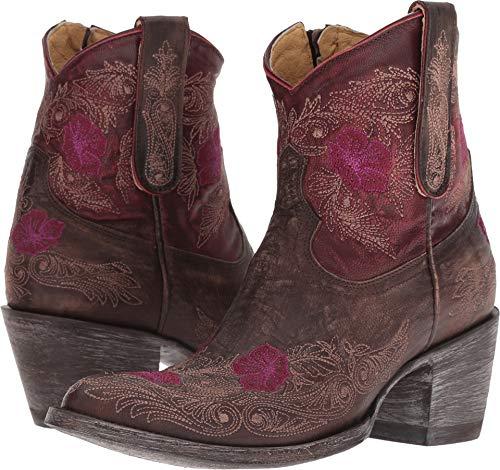 Old Gringo Women's Laurel Short Chocolate/Red 9 B US (Old Gringo Women Boots)