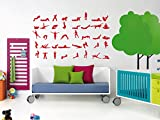 Sport Yoga Mantra Meditation Relaxation Kids Room Children Stylish Wall Art Sticker Decal G9673