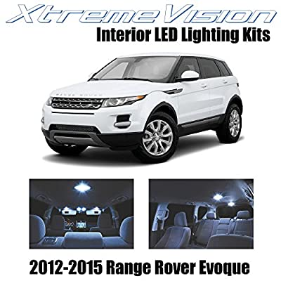 Xtremevision Interior LED for Land Rover Range Rover Evoque SUV 2012-2015 (9 Pieces) Cool White Interior LED Kit + Installation Tool: Automotive