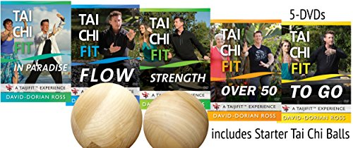 Bundle: Complete Tai Chi Fitness 5-DVD Set with Tai Chi Balls by David-Dorian Ross (YMAA) **Bestselling Tai Chi Series** -
