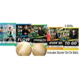Bundle: Complete Tai Chi Fit 5-DVD Set with Tai Chi Balls by David-Dorian Ross (YMAA fitness) **Bestselling DVD Tai Chi Series** Flow, Strength, To Go, Over 50, Paradise